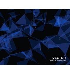 Digital background with blue geometric particles vector