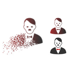 Dust dotted halftone hitler manager icon vector