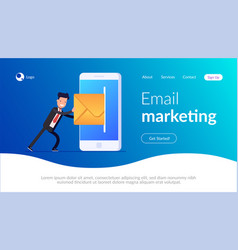 Email marketing concept businessman or manager vector