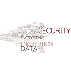 Encrypting word cloud concept vector