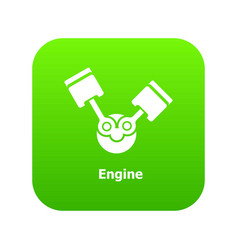 engine icon green vector image