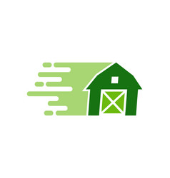 fast farm logo icon design vector image