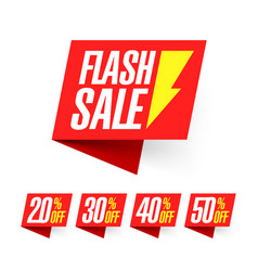 Flash sale deal of the day labels vector