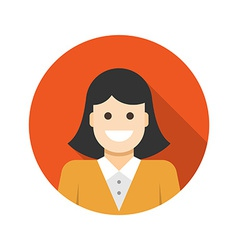 Flat Business Woman User Profile Avatar icon vector