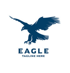 flying eagle logo design template vector image