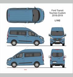 Ford transit tourneo custom van l1h2 2018-2019 vector