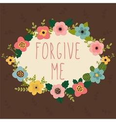 Forgive me Postcard vector