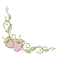 Fruits border vector