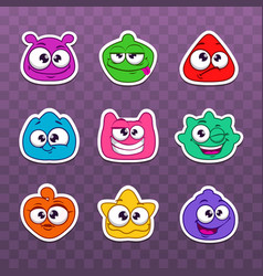 Funny colorful fantasy characters vector