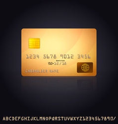 Gold Credit Card Icon vector