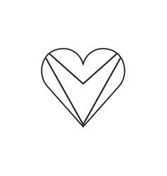 Guyana flag icon in a heart shape in black vector