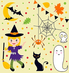 Halloween fun set vector