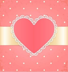 Invitation or greeting card with heart vector image