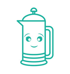 Kawaii french press icon vector