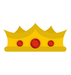king crown icon isolated vector image