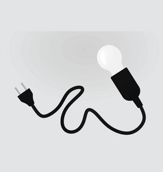 lamp and plug vector image