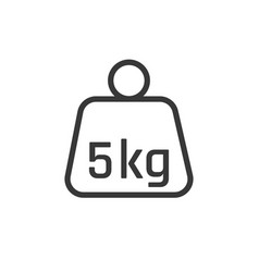 linear weight icon in trendy flat style isolated vector image