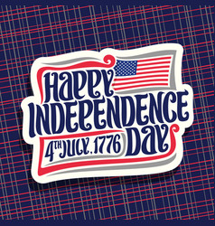 Logo for independence day usa vector