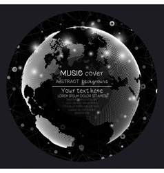 Music album cover templates World globe global vector image