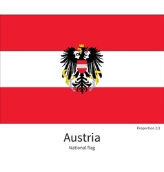 National flag austria with correct proportions vector
