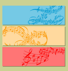 Notes music melody colorfull musician banner vector