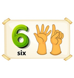 Number six vector image
