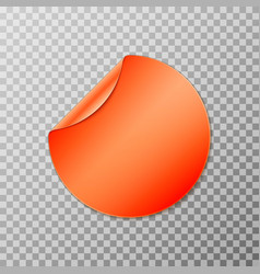 Orange circle round peel off paper sticker vector