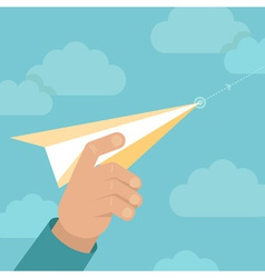 paper plane launch vector image