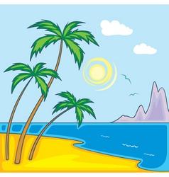 Paradise beach vector
