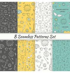 Patterns Sea Summer Hipster Hand Drawn Seamless vector