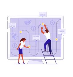 planning development of ideas concept vector image