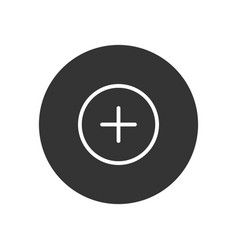 plus icon in modern style for web site and mobile vector image