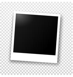 Polaroid photo frame with shadow vector