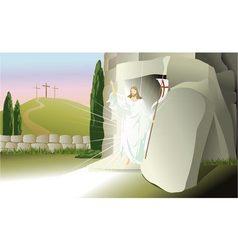 Resurrected Jesus Christ vector