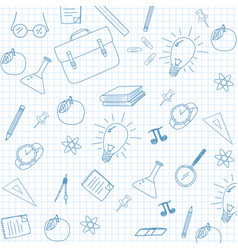 school supplies sketchy notebook doodles vector image
