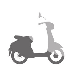 Scooter motorcycle silhouette vector