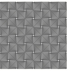 seamless grey crossing squares pattern vector image