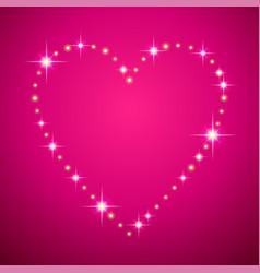 shining heart frame vector image
