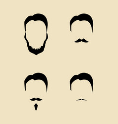 simple graphic of men facial hair types vector image