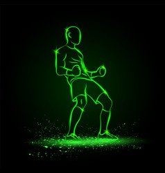 Soccer winner gesture silhouette a football vector