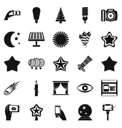 spark icons set simple style vector image