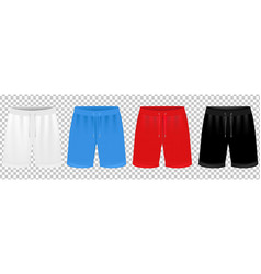 sport shorts design template set transparent vector image
