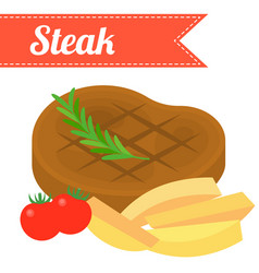 steakflat design vector image