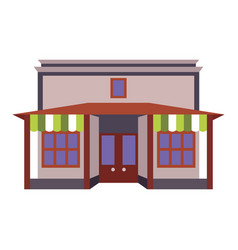 store shop front window building color icon vector image