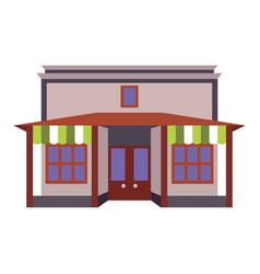 Store shop front window building color icon vector