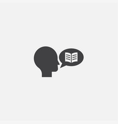 Storytelling base icon simple sign vector