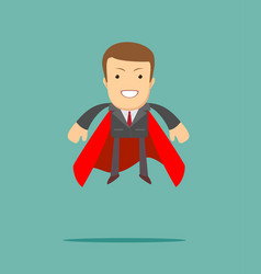 Superhero businessman the concept of success vector