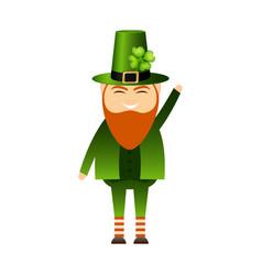 symbol st patrick s day leprechaun cartoon vector image