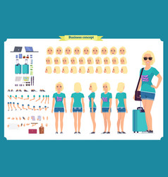 tourist female vacation traveller vector image