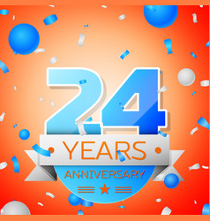 Twenty four years anniversary celebration vector